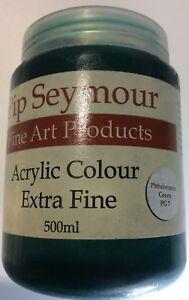 Pip Seymour Acrylic Paint Verdaccio Green Earth 500ML. New Unused