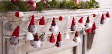 "Mud Pie H0 Christmas Decoration Felt Pom-Pom or Tassel Gnome Garland 60""42600331"