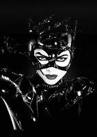 Cat Woman Vintage Batman Movie BOX CANVAS Art Print Black & White - All Sizes