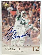 Joe Namath 2001 Upper Deck UD Legends on-card Autograph Auto SP - NEW YORK JETS