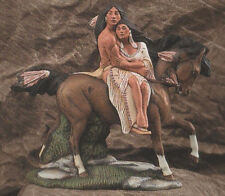 Ceramic Bisque Native American Indian Couple on a Horse U-Paint