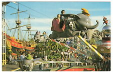 "Vintage Disneyland Postcard ""Flying Dumbo Ride"" [Ref # 01110479 & # DT-35926-C]"