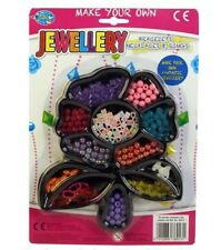 Make Your Own Jewellery Set Girl's Princess Beads Bracelet Neckle Craft Kit Gift