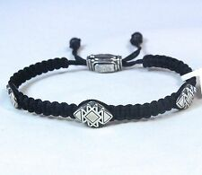 David Yurman Men's Frontier Woven Tile Bracelet Black Nylon Onyx