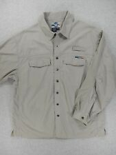 Ex Officio 100% Nylon Long Sleeve Button Down Shirt (Mens XXL)