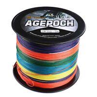 Agepoch 100M-2000M 6-300LB Multi-Color 100%pe Dyneema Sea Braided Fishing Line