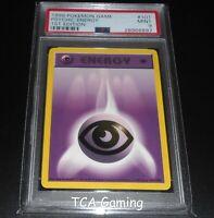 PSA 9 MINT Psychic Energy 101/102 1ST EDITION Base Set Pokemon Card