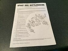 Warhammer Space Ork Battlewagon Assembly Instructions Games Workshop 1990