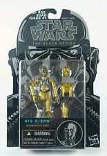 """Star Wars C-3PO Protocol Droid 3.75"""" Negro Serie Juguete Figura De Acción #16 -! nuevo!"""