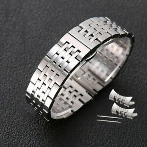 Curved End Stainless Steel Polished Butterfly Clasp Replacement Watch Band Strap