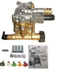 Free Tips Horizontal Pressure Washer Brass Pump 3100 Psi Replaces Triplex Honda