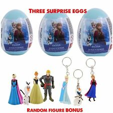 New 3 Disney Frozen GIRLS Surprise Eggs With Toy, Candy And Stickers FREE FIGURE