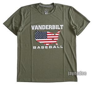 NIKE VANDERBILT COMMODORES USA LEGEND SHORT SLEEVE BASEBALL SHIRT TEAM ISSUE L