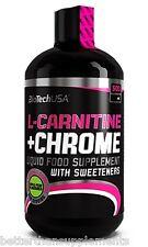 Biotech USA L-carnitine Chrome 500ml Liquid Weight Loss Reduce Body Fat