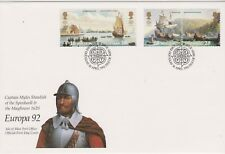 GB ISLE OF MAN 1992 The Mayflower/Discovery of America/Europa '92 SG 518-521 FDC