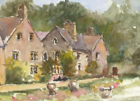 John A. Case - Contemporary Watercolour, Country Estate