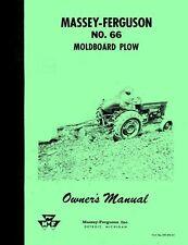 Massey Ferguson No 66 Moldboard Plow Operators Manual