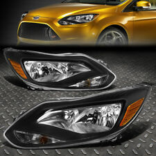 FOR 2012-2014 FORD FOCUS GEN3 PAIR BLACK HOUSING AMBER CORNER HEADLIGHT/LAMP
