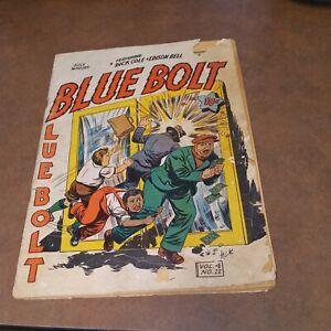 BLUE BOLT Vol 4 #12 1943 Precode superhero golden age ww2 era classic