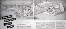 """ROCKET PLANE PLAN & CONSTRUCTION ARTICLE for 28"""" Jetex Scale FF Model Airplane"""