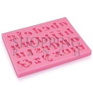 Alphabet Letter Word Making Silicone Mould Fondant Tool Mold Decoration