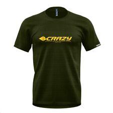 Crazy Idea Logo T Shirt Men  leichtes Funktionsshirt für Herren  sulfur-forest
