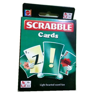 Scrabble Cards ABC Word Card Game Alphabet learn English Mattel Drinking Game