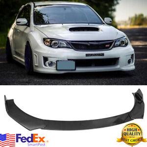 Carbon Fiber Front Bumper Lip Chin Spoiler For Subaru Legacy Impreza WRX STI US