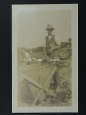 English HOP PICKING / PICKERS Field Portrait (13) Early RP Postcard