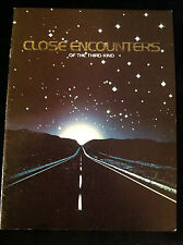 CLOSE ENCOUNTERS OF THE 3rd KIND-VINTAGE MOVIE PROGRAM-SPIELBERG-SPACE-ALIEN-UFO