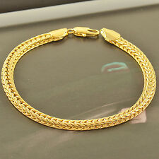 Handsome Yellow Gold Filled,Mens Snake Bracelet,8.9 Inches,Z2120