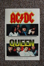 AC/DC Tour Poster 1980 Germany Queen Tour Poster Also