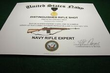 U.S. Navy Expert Rifle Replacement Certificate