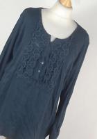 Van Heusen Blue Cotton Womens Basic Tee Size XL (Regular)