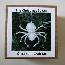 The Legend of the Christmas Spider Beading Ornament Kit. Makes 3. Tinsel Silver