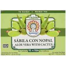 Tadin Herbal Tea Bags, Aloe Vera with Cactus 24 ea (Pack of 2)