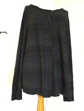 OSKA Fabulous Wavy Textured Jersey Jacket Top Black Grey Size 5 UK 18/20