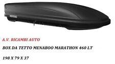 "BOX AUTO TETTO ""MARATHON DARK "" MENABOO 460 LT  BAULE MADE IN ITALY + GARANZIA"