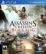 PS4 ASSASSINS CREED IV BLACK FLAG UBISOFT SONY PLAYSTATION 4 GAME MATURE 17+ PS4
