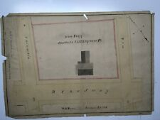 Antique Original 1848 W. A. Mason Plan for Jesse Fogg Property