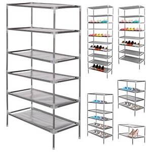 2/4/6/8/10 capa zapatero estante almacenamiento armario acabado 6/12/18/24/30par