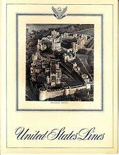 United States Lines Windsor Castle December 23 1968 Vintage Menu