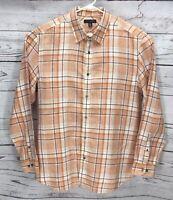 Banana Republic Mens 100% Linen Plaid Long Sleeve Button Down Shirt Size:XL