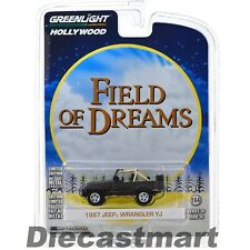 FIELD OF DREAMS 1987 JEEP WRANGLER YJ 1:64 GREENLIGHT SERIES 14 44740D BLACK