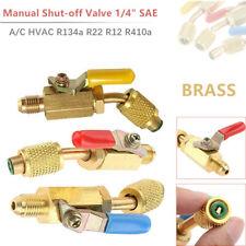 """3Pack 45° Manual Shut-off Valve 1/4"""" SAE Ball Valve A/C HVAC R134a R22 R12 R410a"""