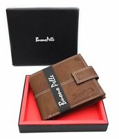 MENS DESIGNER RFID BLOCKING REAL LEATHER ZIP COIN WALLET CREDIT CARD HOLDER