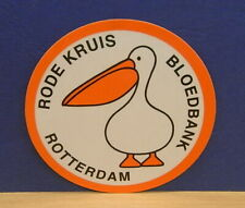 1x Sticker - Decal Dick Bruna / Rode Kruis Rotterdam with org.back 80's (02053)