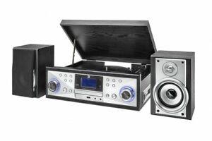 Dual NR 110 Nostalgie Plattenspieler Kassette-Abspieler USB CD FM Direktkopie