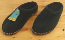 """Haflinger Mens """"The Hut Shoe"""" Green Wool Slip On Slippers Sz 8 Made In Germany"""