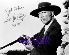 LEE VAN CLEEF FOR A FEW DOLLARS MORE SIGNED AUTOGRAPHED 10X8 REPRO PHOTO PRINT